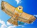 Envío gratis de alta calidad 1,8 m cometa de águila dorada con línea de mango kite juegos de pájaro kite weifang cometa China Dragón Volador rgico hcx
