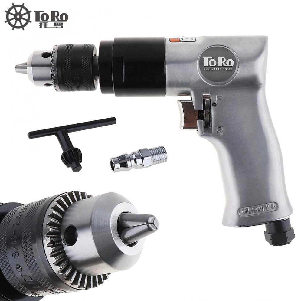 TORO 1800rpm TR-5100 3/8 High-speed Cordless Pneumatic Drill Reversible Air Drill for Hole Drilling high quality 3 8 reversible pneumatic drill air tapping machine