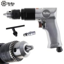 TR-5100 Pneumatic Tools 3/8 1800rpm High Speed Cordless Pneumatic Gun Drill Reversible Air Drill Tools for Hole Drilling veconor 3 8 pneumatic air powered reversible power drill compressor automotive tool