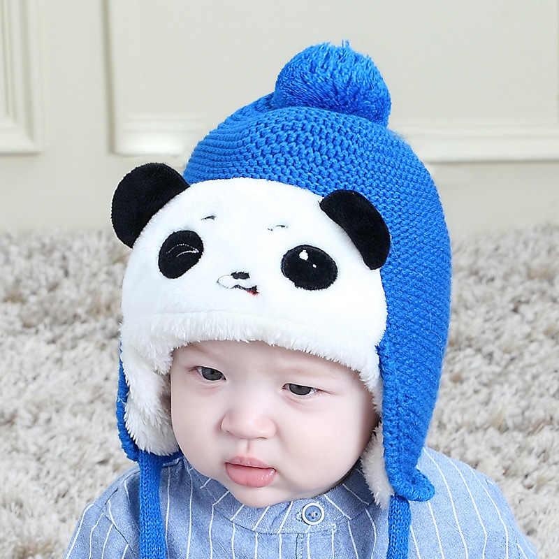 תינוק כובעי 2018 הגעה חדשה סתיו חורף יילוד לחתוך דוב קטיפה מפציץ כובעי בנות בני פעוט תינוק חם סרוג כובע