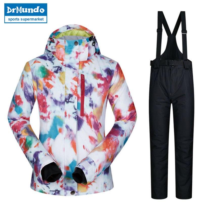 2018 haute qualité Ski costume femmes coupe-vent imperméable respirant chaud Snowboard vestes et pantalons MHSJ hiver Ski veste femmes - 5