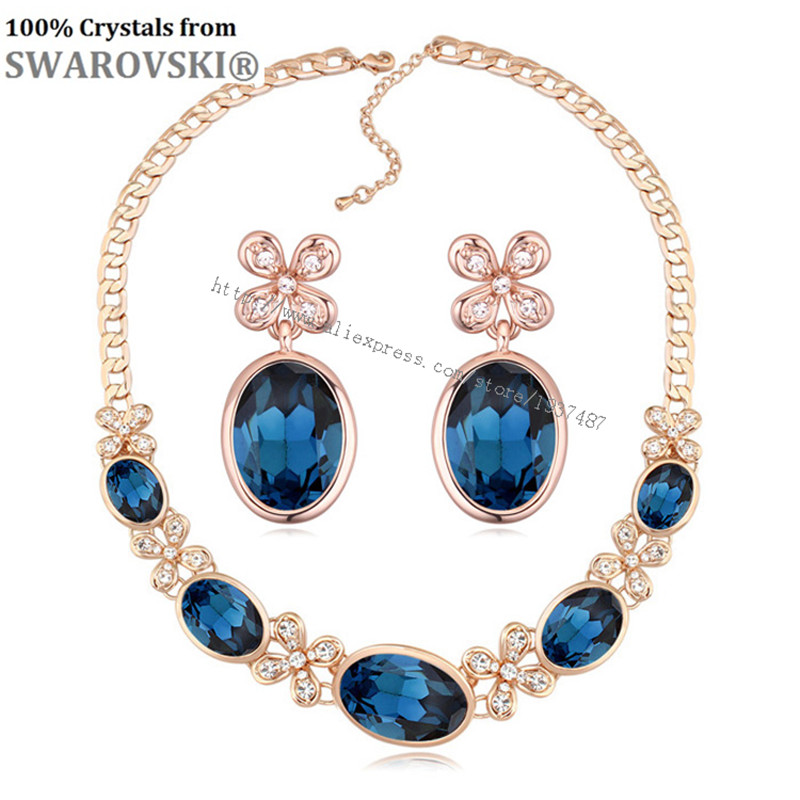 Ms Betti Mother s Day Sale 2019 romantic lovers gift moon flower earrings and necklace jewelry
