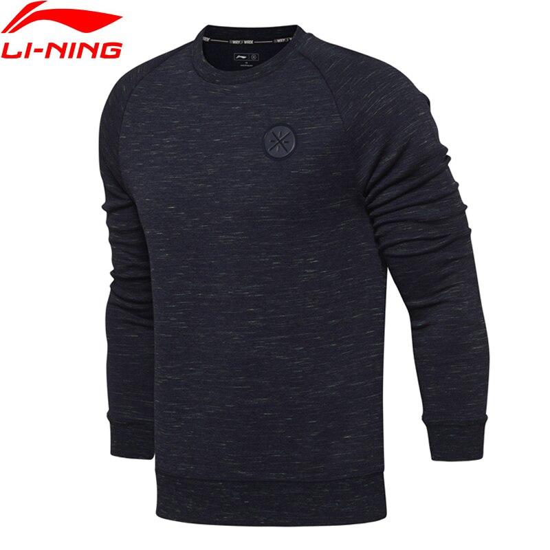Li-Ning Men Wade Po Knit Top Sweaters Fitness Comfort Regualr Fit Interlock Fabric LiNing Sports Sweater AWDN035 MWW1377