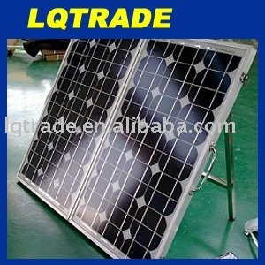 80 Watt folding solar panel with regulator wiring and legs