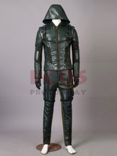 Klar til forsendelse Green Arrow Sæson 5 Oliver Queen Cosplay Kostume mp003491