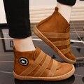 2017 Estilo Europeu Outono Inverno Mulheres Moda Casual Engrossar Calor Slip-On Sapatos Estudantes de Placas Planas Zapatos Chaussures G313