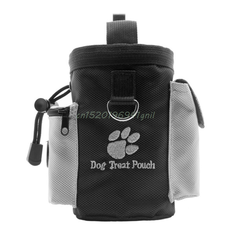 1PC Black Dogs Treat Bags Pet Dog Puppy Obedience Agility Bait Training Waterproof Food Treat Pouch Bag#T025#