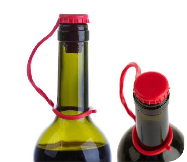 Anti-Lost Silicone Bottle Stopper