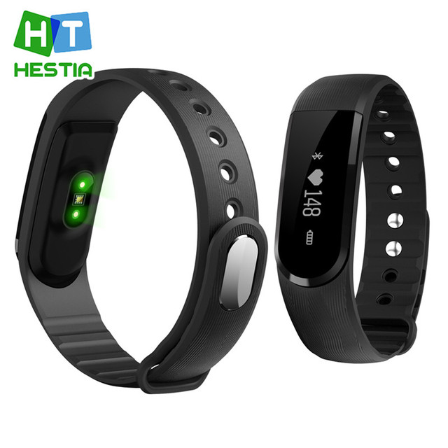 HESTIA Bracelet ID 101 Bluetooth 4.0 Intelligent Smartband Band Heart Rate Monitor Sport Fitness Tracker for Android iOS