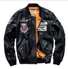 Air Force Pilot Leather Jacket Men Pu Baseball uniform jaqueta masculina Mens Motorcycle