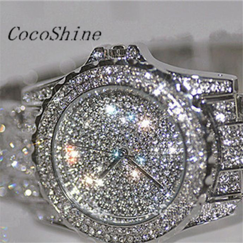 CocoShine A-693 Luxury women watches rhinestone ceramic crystal Quartz watches Lady Dress Watch wholesale Free shipping