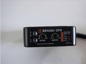BEN300-DFR Jenis Difus Frared Photoelectric Sensor Switch AC DC Relay Output Adjustable Foto Sensor Gratis Pengiriman