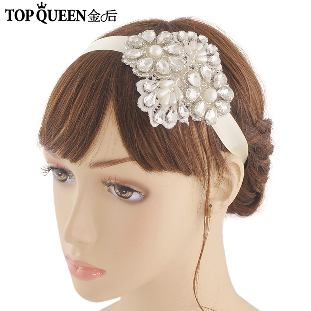 TOPQUEEN H142 Bridal Headpiece Wedding Accessory With Crystal And Pearls Rhinestone Wedding Headband Elegance Hair Fast Shipping
