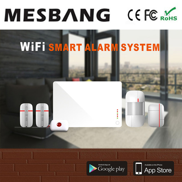 Special Offers Mesbang Wifi Wireless Security Alarm System For Home Office Shop Support Wireless Wifi IP Camera Free Shipping
