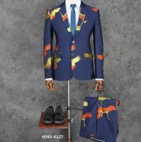 S 4XL! Новое торжественное платье Для мужчин тонкий личности цветок Прополка платье певцов DJ Одежда для сцены костюмы партии куртка жених пал