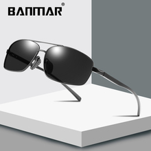 BANMAR Aluminum Magnesium Rectangle Polarized Sunglasses For Men UV400 Sun Glasses For Women Goggles Oculos Driving Black Shades banmar aluminum magnesium men sunglasses polarized sports driving goggles sunglass fishing uv400 square sun glasses for men
