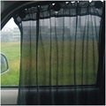 2 Pcs/lot New Universal Car side windows curtain sunshade black mesh gauze curtain UV Protection with suction cups