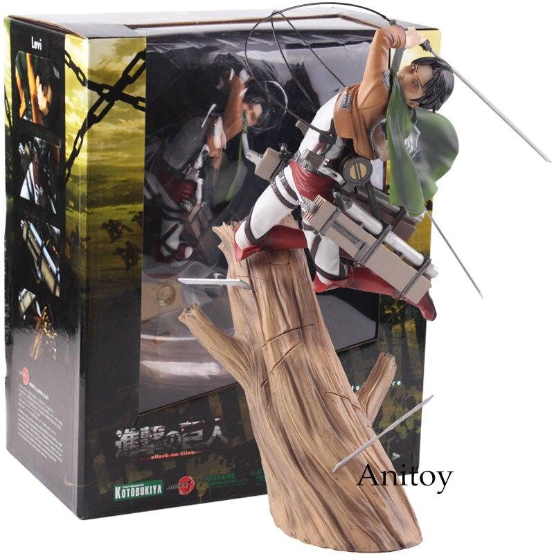 Kotobukiya ARTFX J атака на Титанов Леви Rivaille 1/8 Scale предварительно окрашенный ПВХ Леви Акерман фигурку Коллекционная модель игрушка