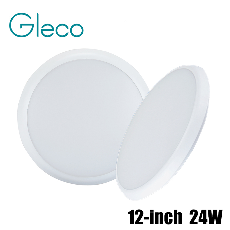 ФОТО AC90-240V 12 inch 24W Dimmable LED Ceiling Light 3 Brightness Mode Waterproof PVC Ceiling Lamp Bearing Force up to 100KG W / WW