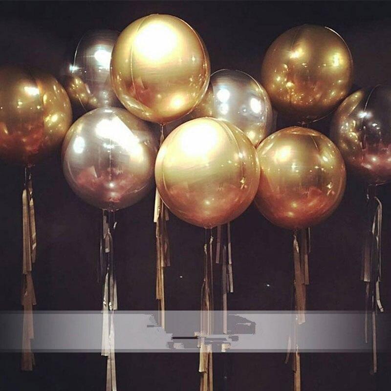 Ev ve Bahçe'ten Balonlar ve Aksesuarları'de 50 adet Renkli 22 Inç 4D Alüminyum Folyo şişme balonlar Düğün Süslemeleri Bebek Duş Doğum Günü Balonları Parti Malzemeleri'da  Grup 2
