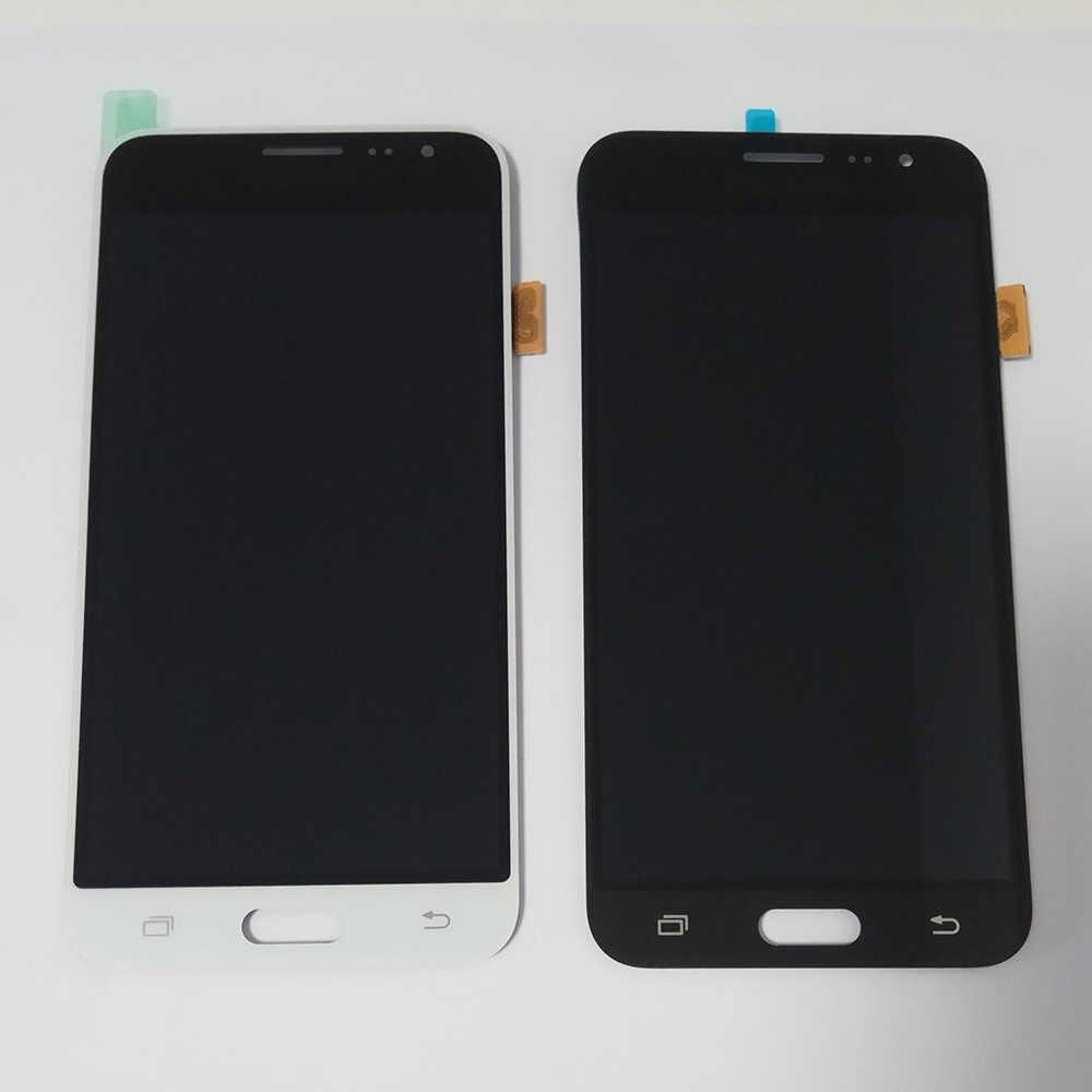 J320f lcd Đối Với SAMSUNG GALAXY J3 2016 J320 J320F SM-J320F LCD Hiển Thị Màn Hình Cảm Ứng Digitizer Lắp Ráp LCD Pantalla Thay Thế Một Phần