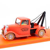 kids 1:43 Scale The Adventures of Tintin tow truck car The crab with golden Claws diecast Tin tin cars model action figures toy