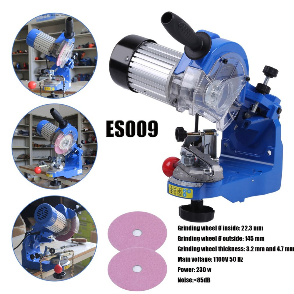 230W Car Electric Chain Sharpener Saw Chain Grinder Device Grinding Machine Tool 3000RPM EU Plug ES009