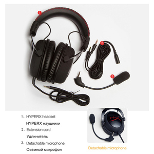 Image 4 - Kingston Gaming Headset HyperX Cloud Core Headphones With a microphone Hi Fi Auriculares For PC PS4 Xbox Mobile devices