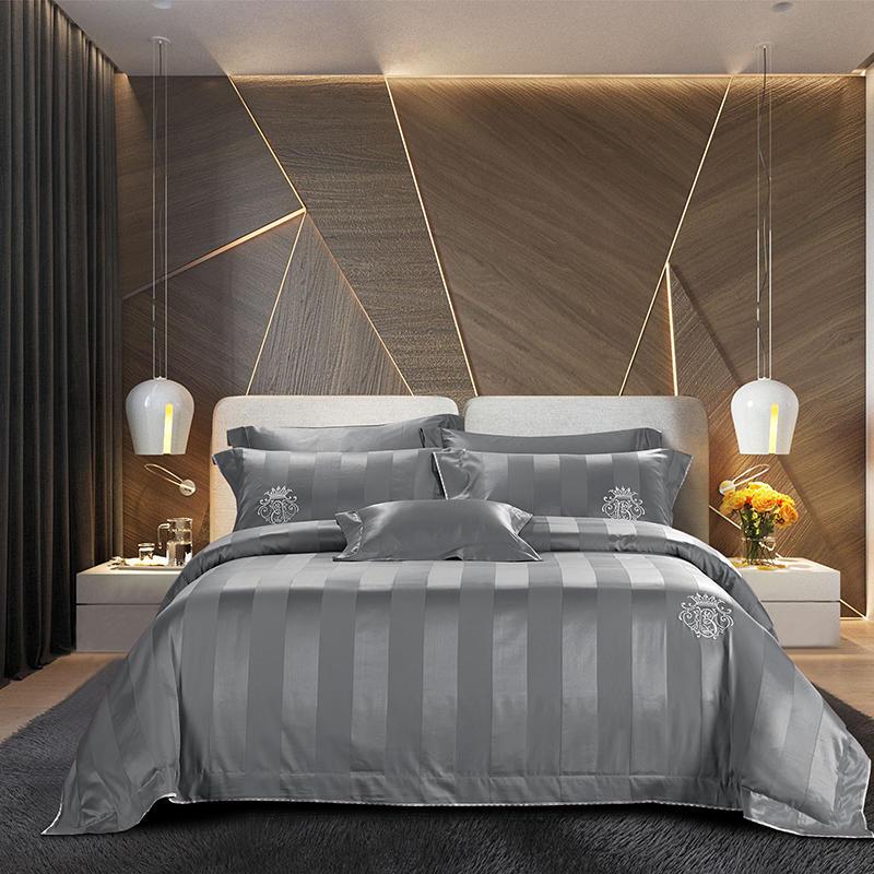 1000TC cotone Egiziano Biancheria Da Letto di Seta Set Queen Size lenzuolo set biancheria da Letto Copripiumino copertura del Cuscino ropa de cama parure de lit