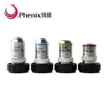 Phenix 195 мм план ахроматическая линза для объектива 4X 10X 40X 100X для биологической медицины