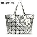 HS RHYME Women Diamond Handbag Folded Lattice Pearl Shoulder Tote Bag Quiltied Top-hand Bag Woman fashion women messenger bags