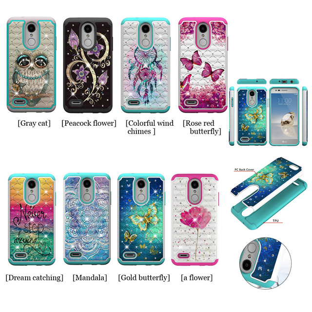 innovative design 95a17 e198b US $1.26 |TPU case For Fundas LG Aristo 2/K8 2018/Aristo 2 Plus Case Two in  one Silicone cover Mobile Phone Plastic + TPU Cases-in Fitted Cases from ...