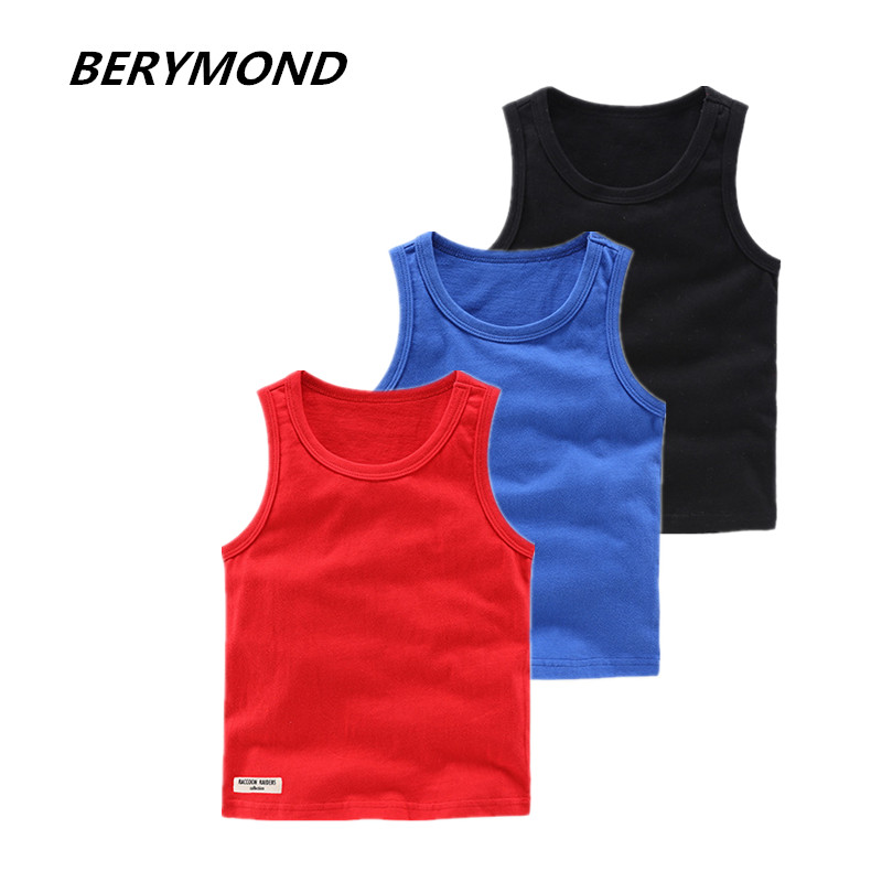 New Girls T Shirt Children T Shirts For Boys Candy Color Children T-shirts Girls Top Cotton Vest Kids Undershirt Baby Singlets