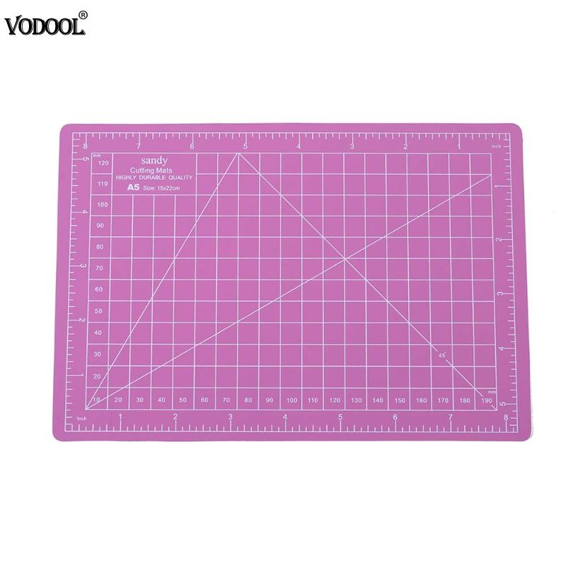 Vodool A5 15x22cm Cutting Mat Craft Pvc Self Healing