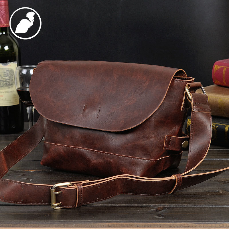 ETONWEAG Famous Brands Messenger Bag Men Leather Brown Vintage Business Laptop Shoulder Bags Fashion Casual Travel Crossbody Bag genuine leather men shoulder bags brown black business messenger bag vintage multifunction casual travel crossbody pack rucksack