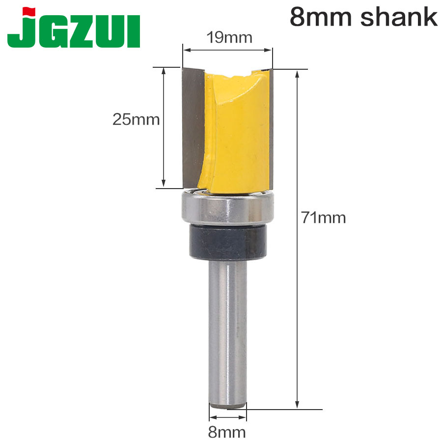 1pc 8mm Shank Template Trim Hinge Mortising Router Bit Straight End