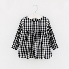 Long Sleeve Baby Girl Dress Plaid Girls Clothing Infant Bebes 1 Year Birthday Dress Soft Clothes Cotton Dress For Girl