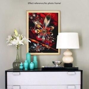 Image 5 - Hot europa diament malarstwo Cross Stitch kwiat 5D Diy diament haft Rhinestone robótki wystrój domu