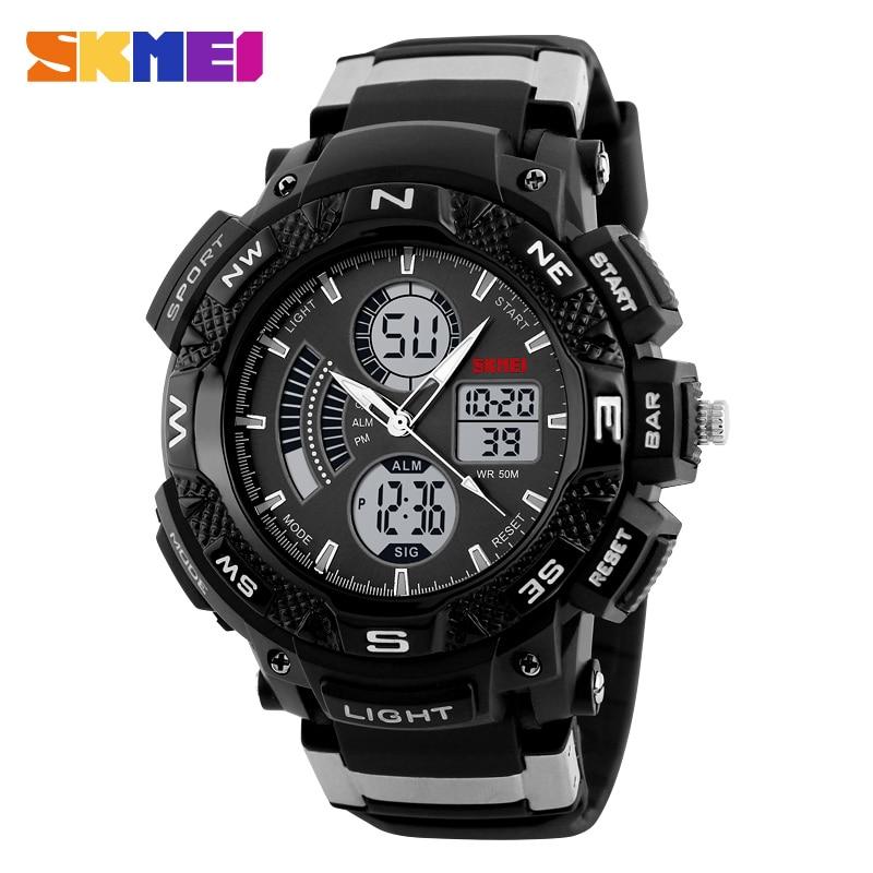 Skmei hombre relojes de pulsera digitales opción al aire libre reloj deportivo multifunción luz trasera cronógrafo 50 m relojes impermeables 1211