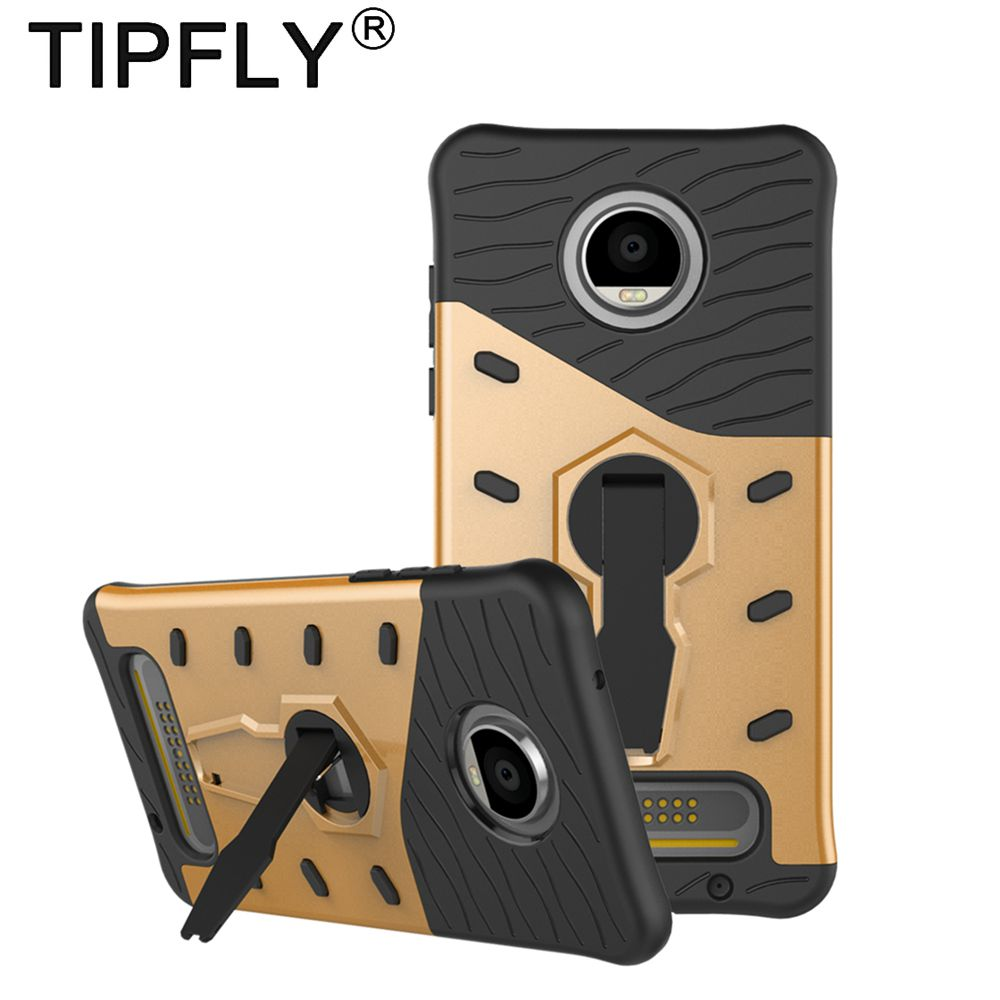 TIPFLY Fitted Case For Motorola Moto Z2 Play Armor Case Stand Cover Shell for Moto Z2 Play 360 Rotating Back Cover Case