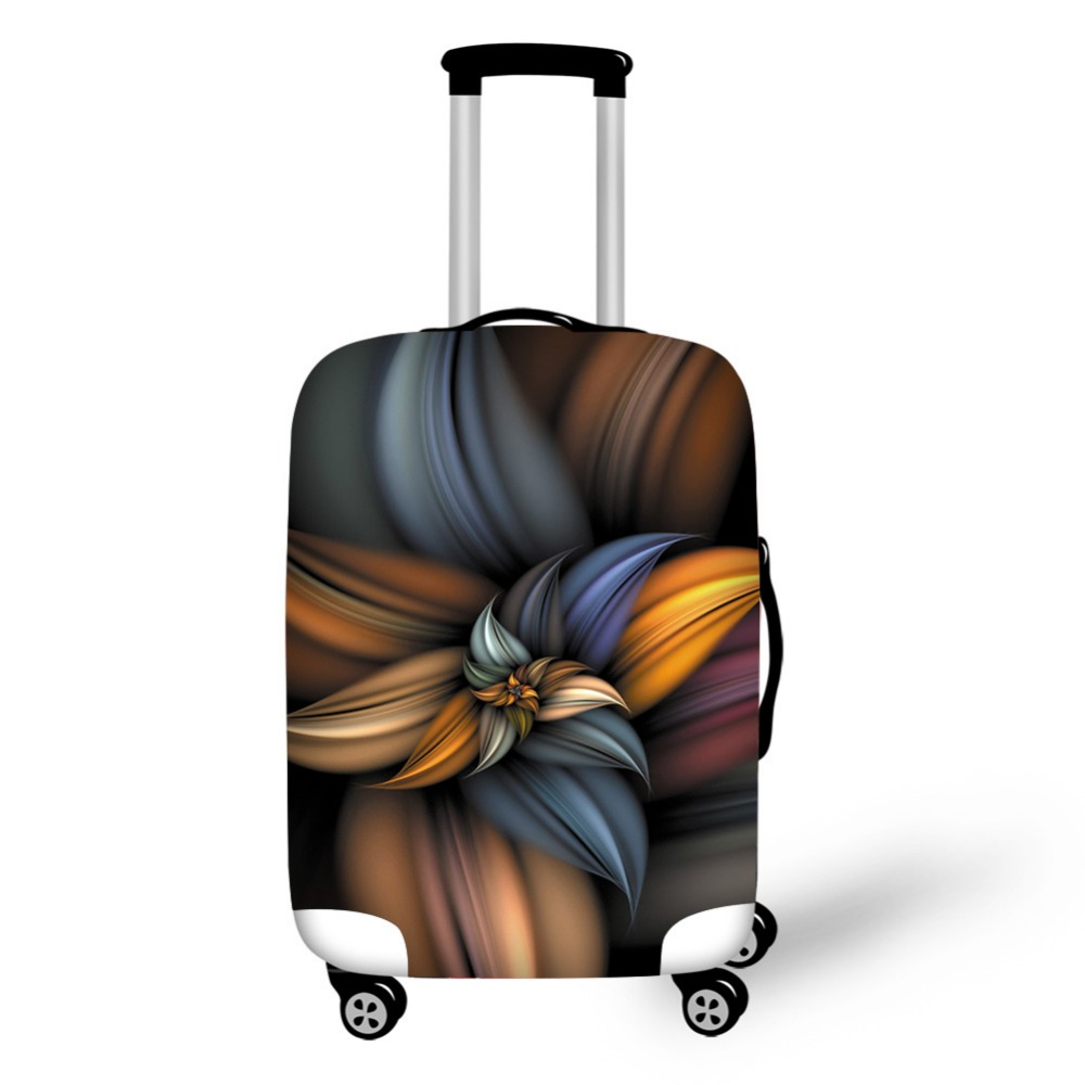 AnyFocus 3D Flower Travel Luggage Protective Cover for 18-30 Inch Trolley Suitcase Elastic Trunk Case Dust Covers with Zipper