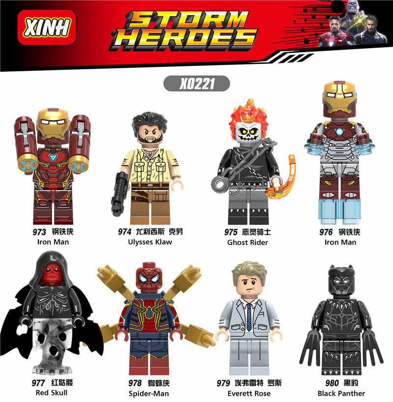 Legoings Marvel Супер Герои Бесконечность войны танос стражи Галактики паук железные человеческие Мстители Тор строительные блоки игрушки Фигурки