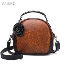 Bolsos bandolera para mujeres de marca de diseñador de moda bolso de cuero PU Vintage bolsos de mensajero de alta calidad pequeña señora bolso de hombro