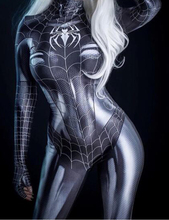 黒猫symbiote女の子3Dプリント安いスパンデックス女性コスプレコスチューム全身タイツスーツホット販売
