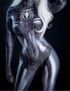 Image 1 - 黒猫symbiote女の子3Dプリント安いスパンデックス女性コスプレコスチューム全身タイツスーツホット販売