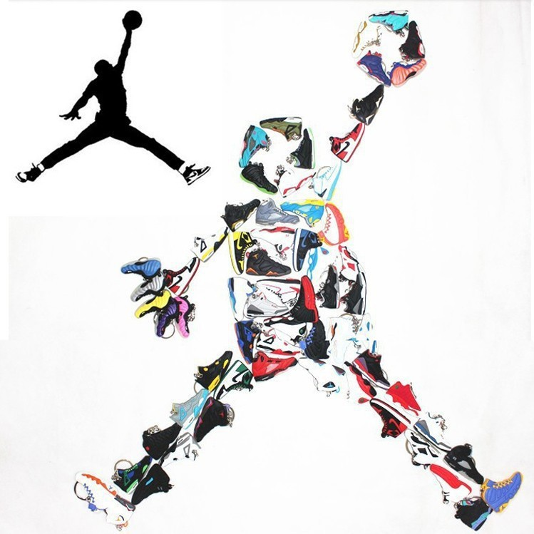 3353add793bc HOT sale1Lot   120Pc Rubber Novelty Jordan retro shoes key chain Jordan 1 2  3 4 5 6 7 8 9 10 11 12 13 generations shoe Keychain-in Key Chains from  Jewelry ...