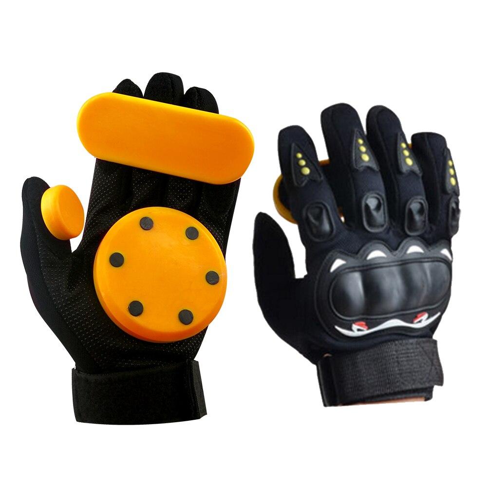 KUFUN Skateboard Gloves Downhill Slide Gloves Fire Stone Flint Sparks Longboard Gloves Protective Gear Pad Downhill