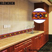 KLG-003 Self-adhesive Wallpaper Decor Wall Sticker Waistline Stickers PVC  Waist Line Bathroom kitchen Tile wallpaper