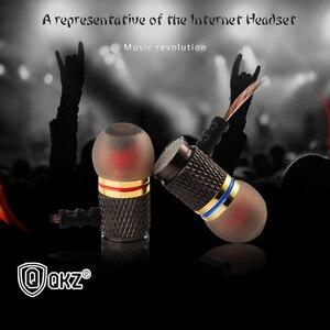 Image 3 - QKZ في الأذن سماعة ايفي المعادن الثقيلة باس جودة الصوت الموسيقى هاتف محمول احترافي سماعة سماعة ل huawei xiaomi