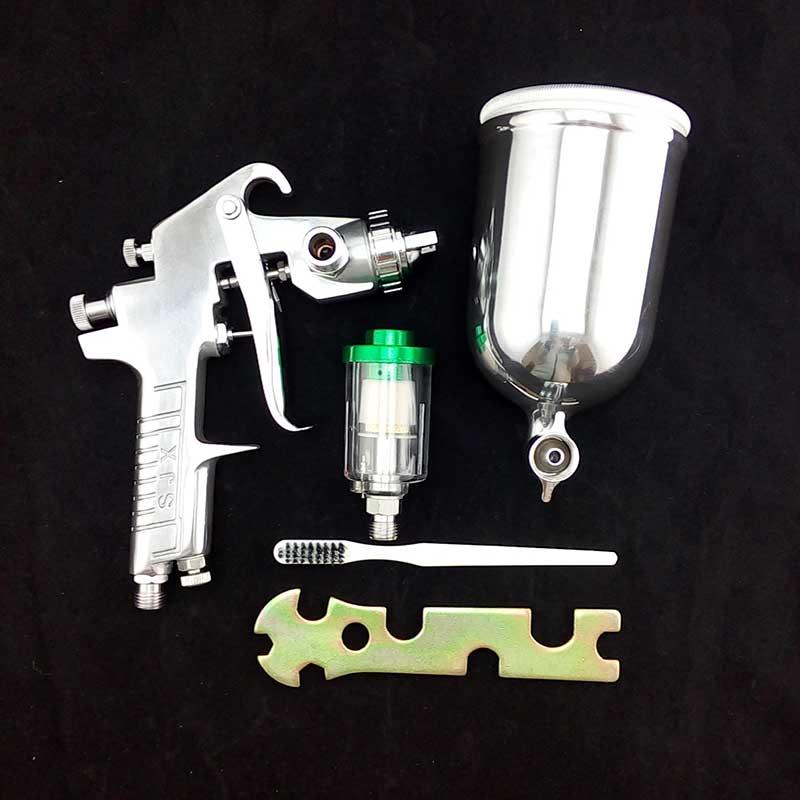 DIY pneumatic air tool spray paint gun W-77 nozzle 3.0mm with oil- water separator filter  цены